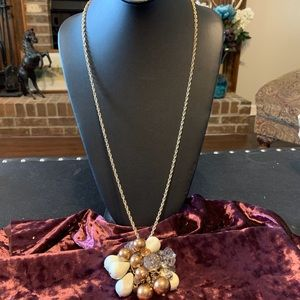 NWT beaded cluster long necklace. 2/$14 Sale